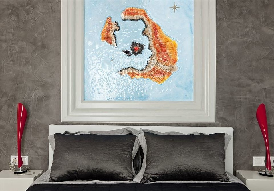 red modern art painting art mural picture frame textile colored