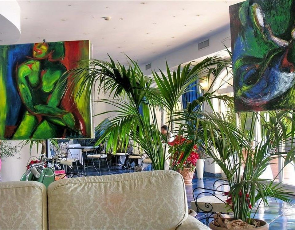 plant mural art modern art floristry painting flower restaurant colorful