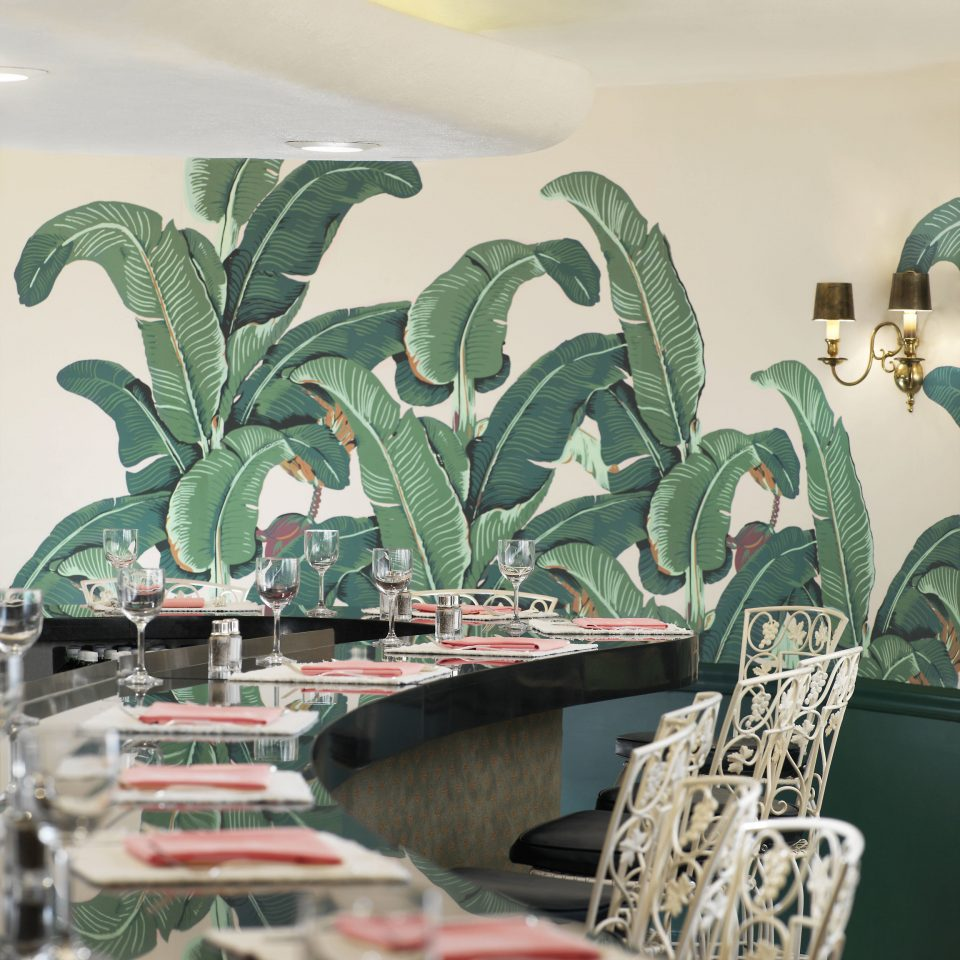 green art floristry flower leaf painting illustration dining table