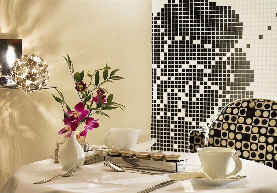 white flower living room art lighting wallpaper modern art pattern dining table porcelain