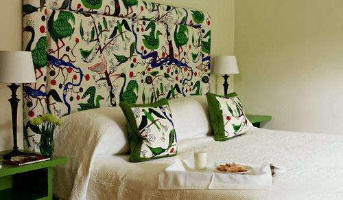 green living room art textile flower