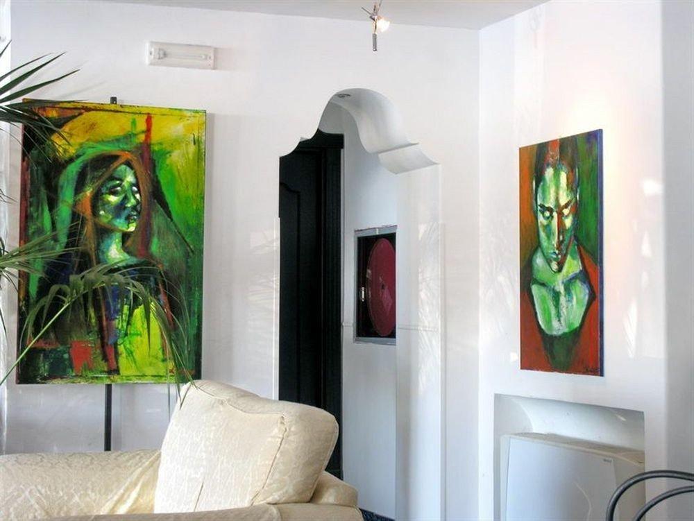 property modern art scene mural art home living room