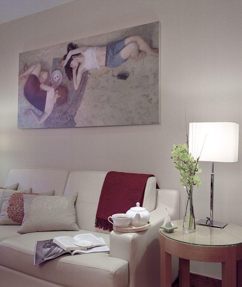 white living room modern art art