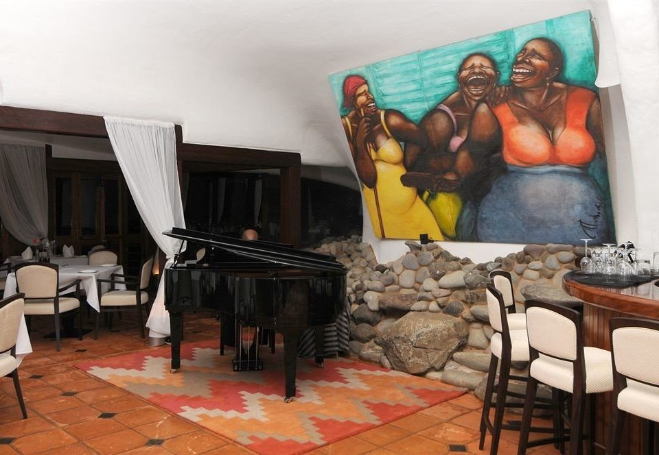 art mural restaurant living room
