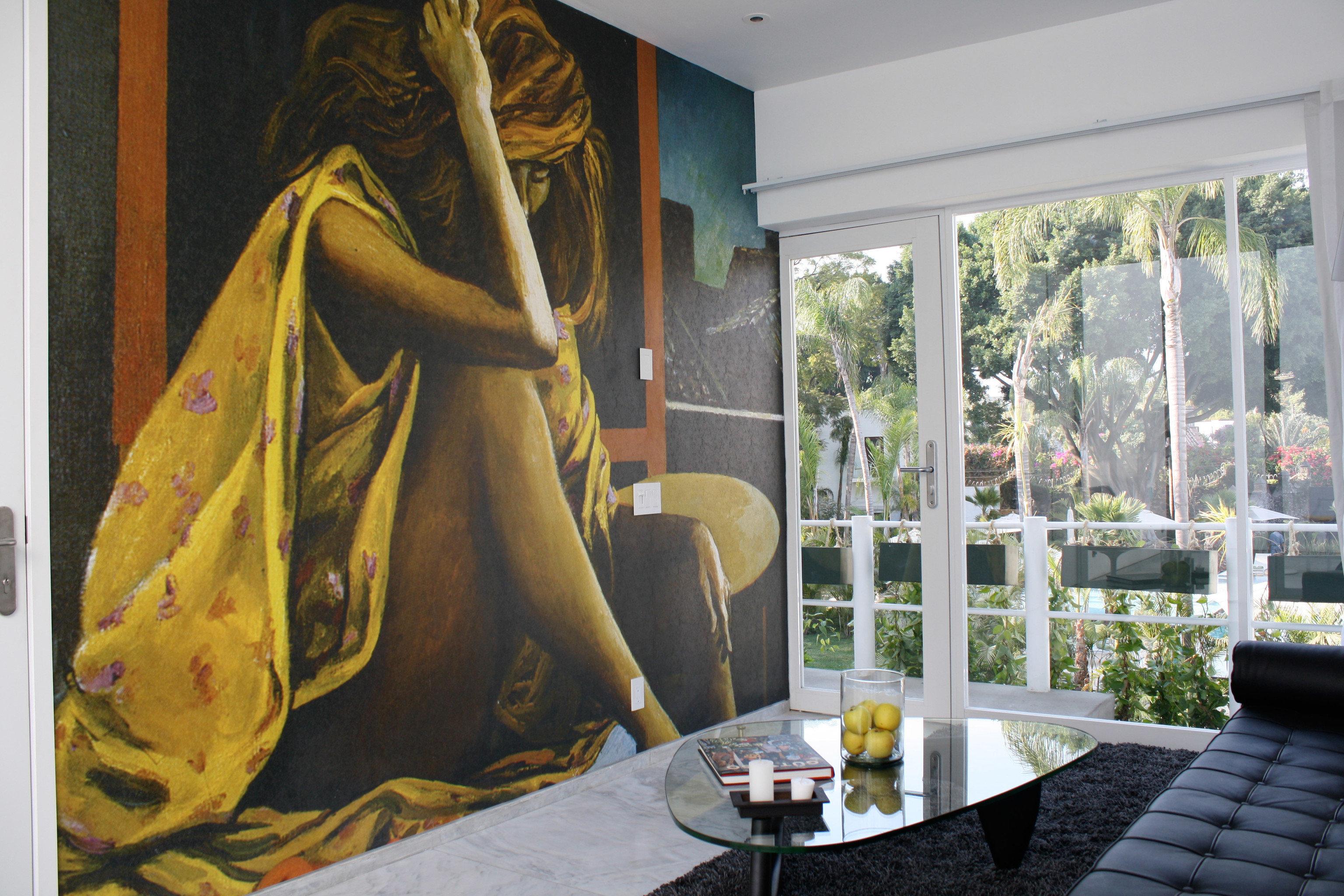 art living room mural