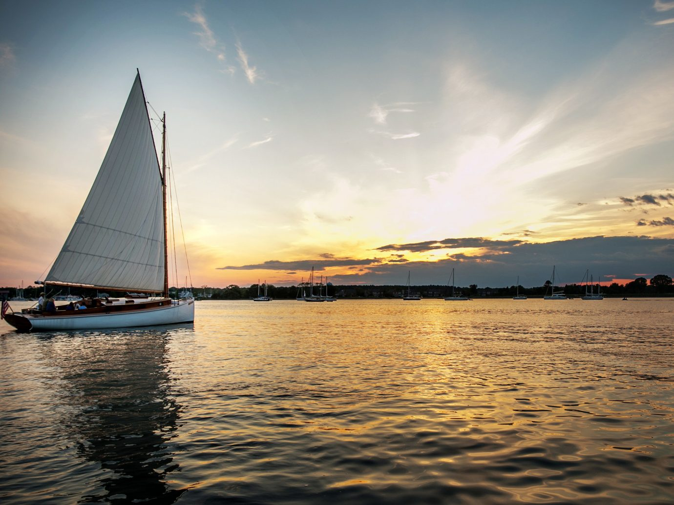 Ocean Romance ship Sunset Trip Ideas Weekend Getaways water sky outdoor Boat sailing vessel waterway watercraft reflection transport sail calm Sea cloud sailboat River horizon sailing evening morning dusk sailing ship Lake sunlight sunrise landscape wave channel dawn boating day distance