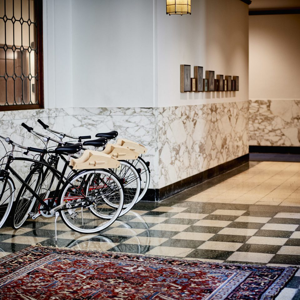 Arts + Culture Boutique Hotels City Jetsetter Guides bicycle flooring art building
