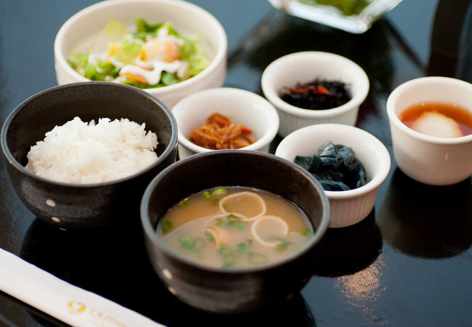 cup food plate bowl cuisine tray asian food chinese food steamed rice lunch soup