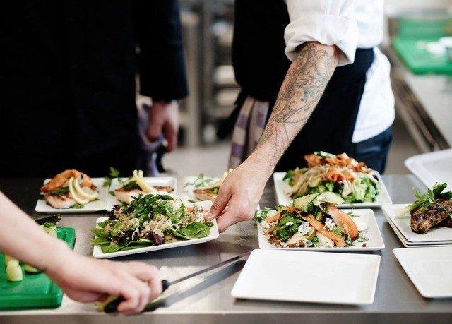 food lunch cuisine cook restaurant floristry buffet brunch sense professional culinary art preparing asian food taste meat