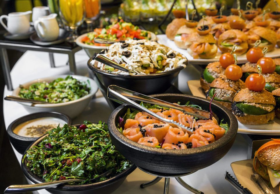 food buffet hors d oeuvre cuisine supper dinner restaurant brunch vegetable asian food lunch meat