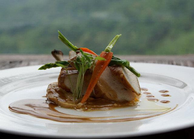 plate food piece slice cuisine white fork fish half restaurant asian food meat eaten dessert piece de resistance