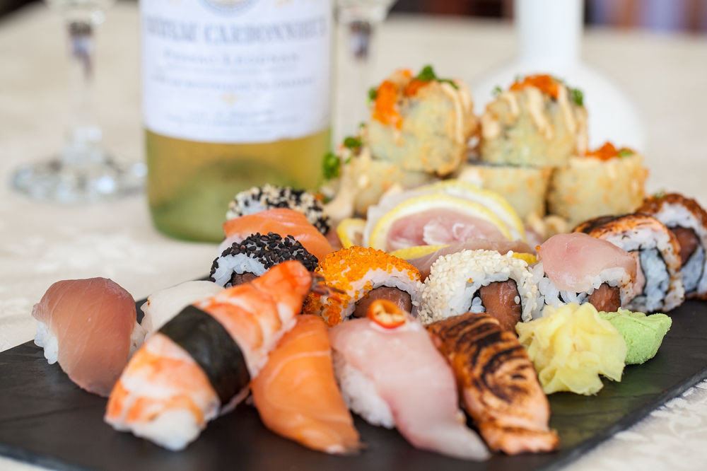 sushi food plate cuisine asian food hors d oeuvre fish meat