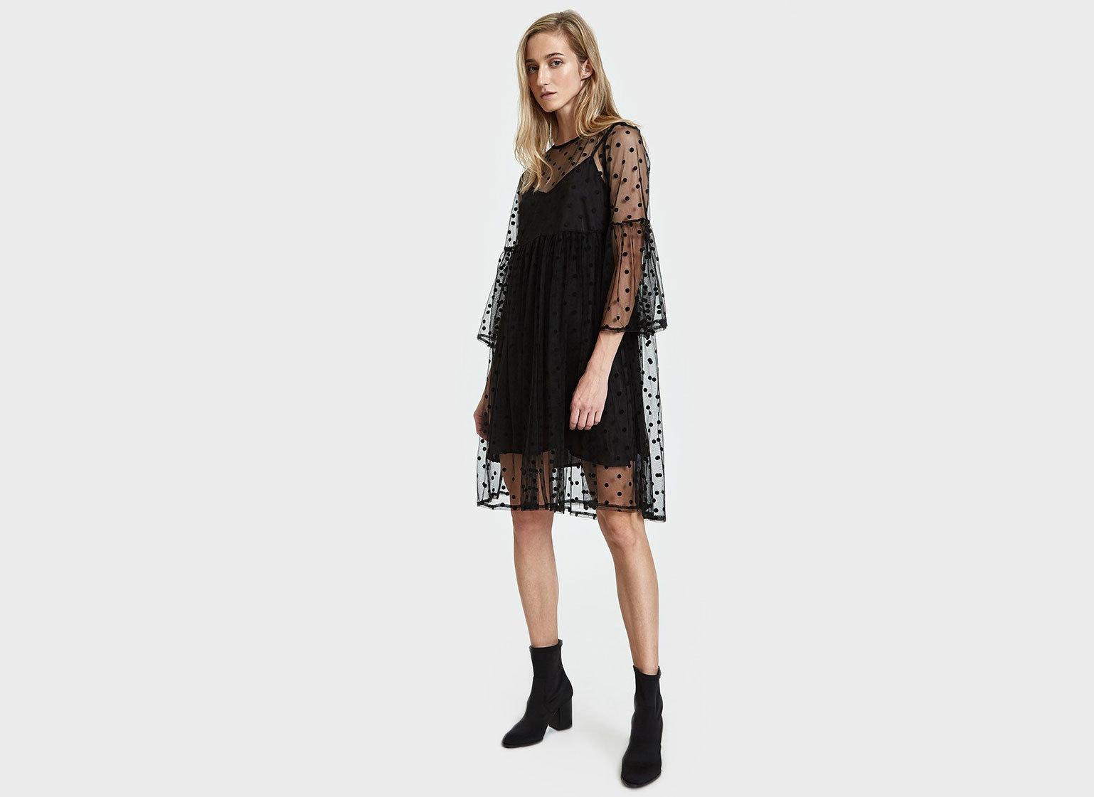 Travel Shop Travel Trends clothing fashion model shoulder outerwear costume neck little black dress