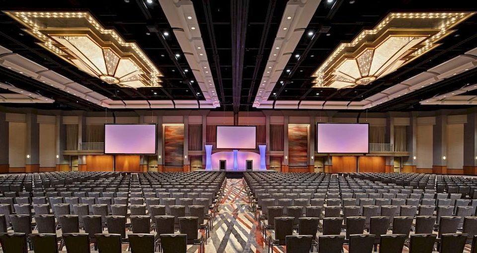 auditorium stage performing arts center function hall convention center ballroom audience theatre conference hall