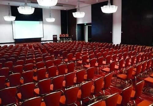auditorium conference hall movie theater performing arts center red audience function hall theatre convention center orange hall
