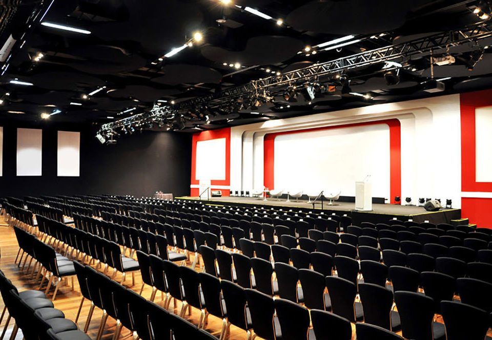 auditorium stage audience conference hall theatre long movie theater hall