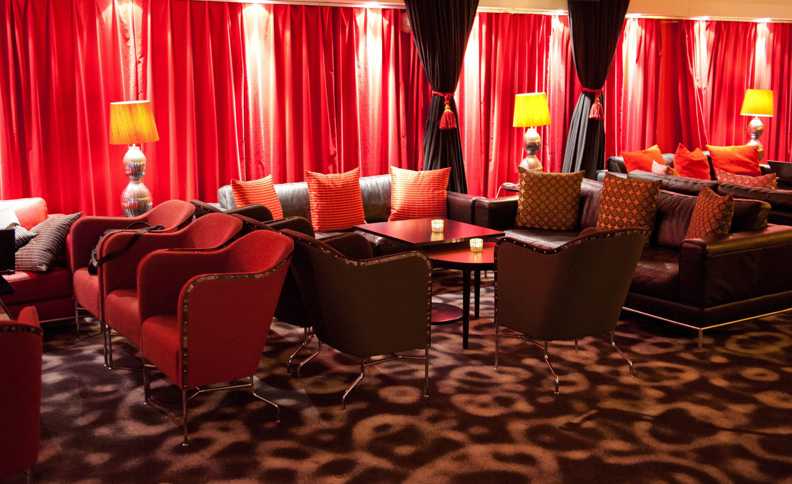 curtain chair red function hall stage banquet auditorium restaurant ballroom nightclub movie theater
