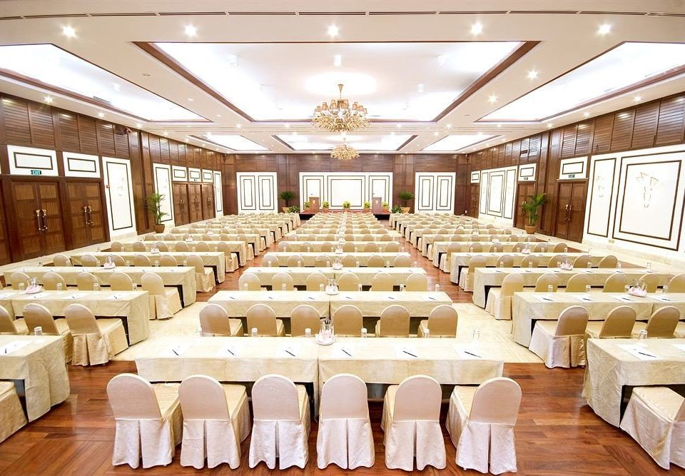 function hall chair banquet conference hall wooden auditorium ballroom convention center long restaurant meeting conference room lined