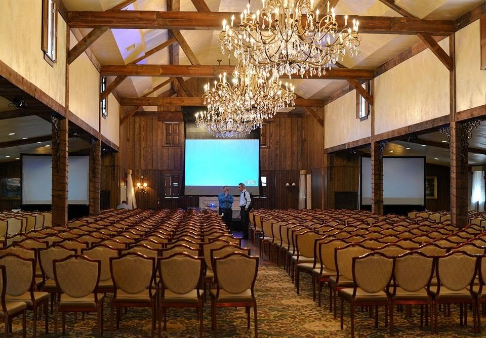 chair auditorium function hall conference hall ballroom convention center banquet lined