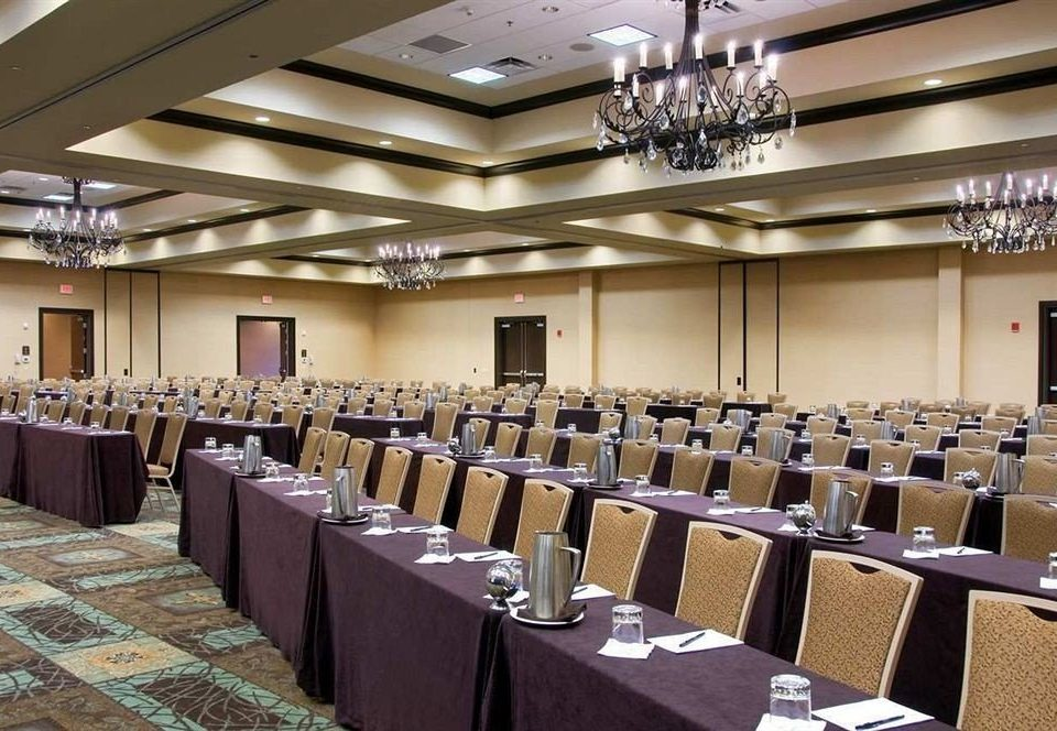 auditorium function hall chair conference hall banquet ballroom convention center convention meeting long lined line