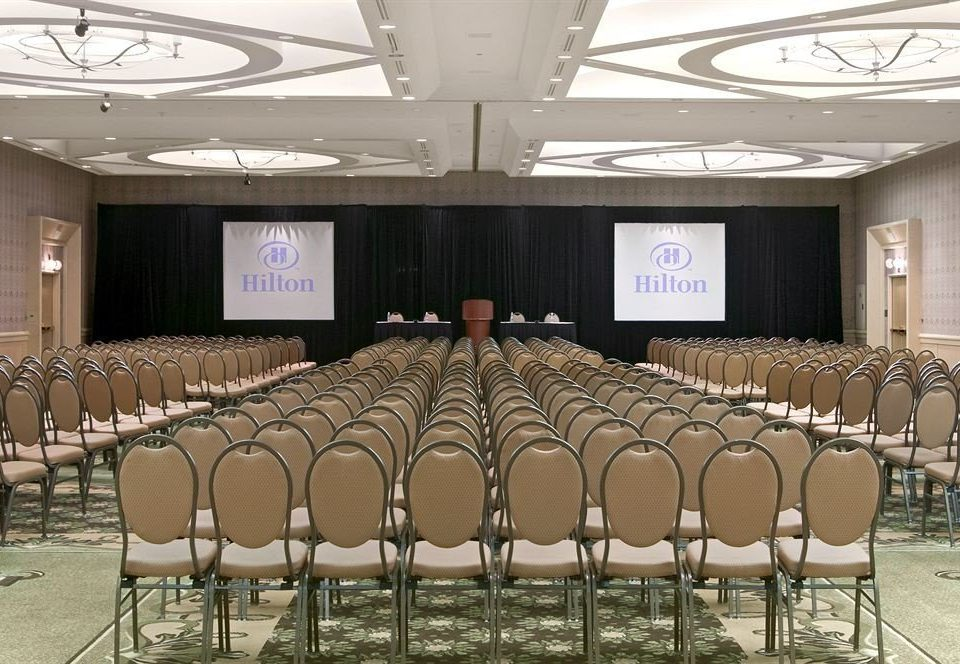auditorium chair conference hall function hall banquet convention center meeting ballroom lined set line