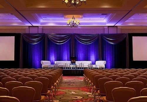auditorium function hall conference hall stage convention center ballroom theatre banquet meeting purple convention colored