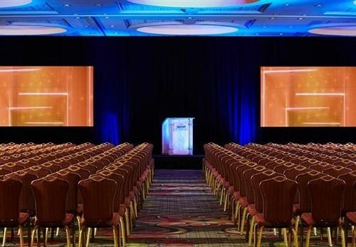 auditorium function hall stage conference hall banquet convention center ballroom colored meeting hall colorful set