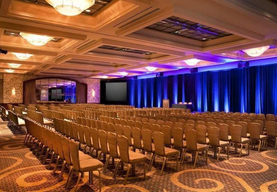 auditorium function hall performing arts center conference hall ballroom convention center stage banquet theatre convention long line lined