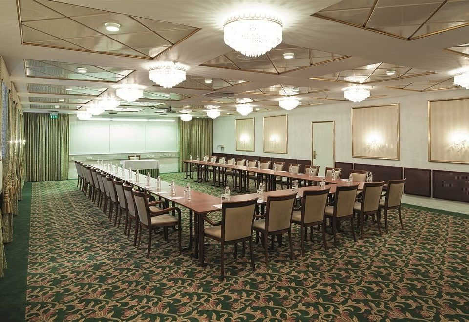 auditorium function hall conference hall convention center ballroom meeting banquet long