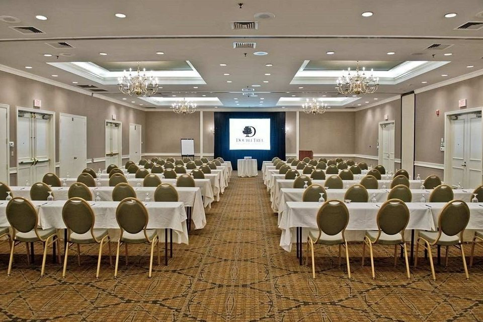 auditorium function hall conference hall banquet ballroom convention center meeting convention set lined