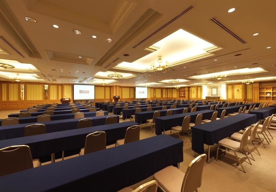 chair auditorium conference hall long function hall convention center recreation room classroom ballroom lined line