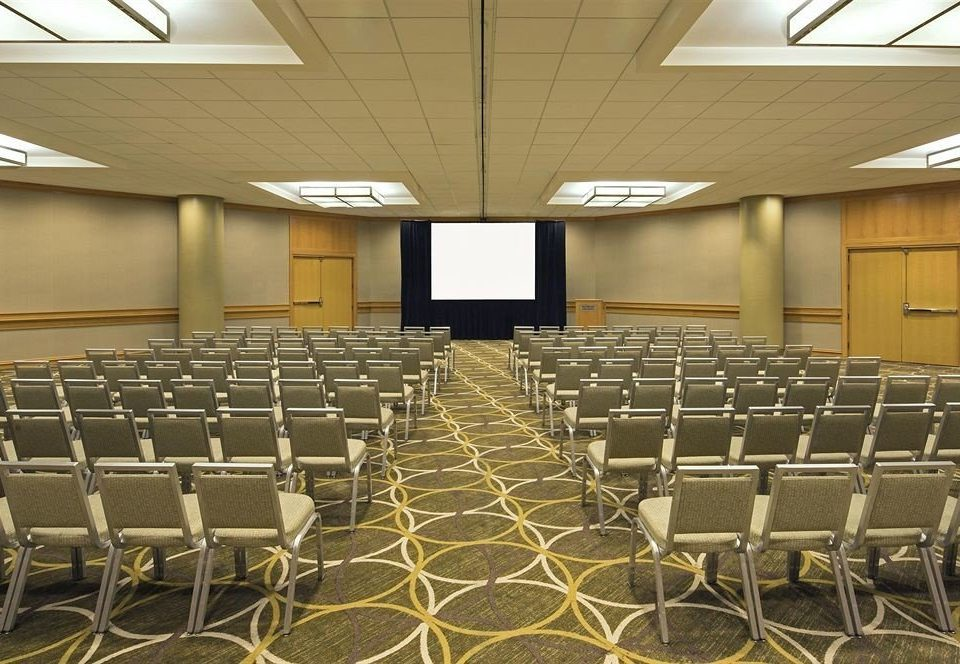 auditorium chair conference hall function hall convention center classroom meeting ballroom lined conference room