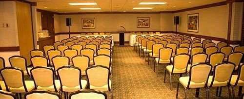 chair auditorium function hall conference hall convention center ballroom meeting set