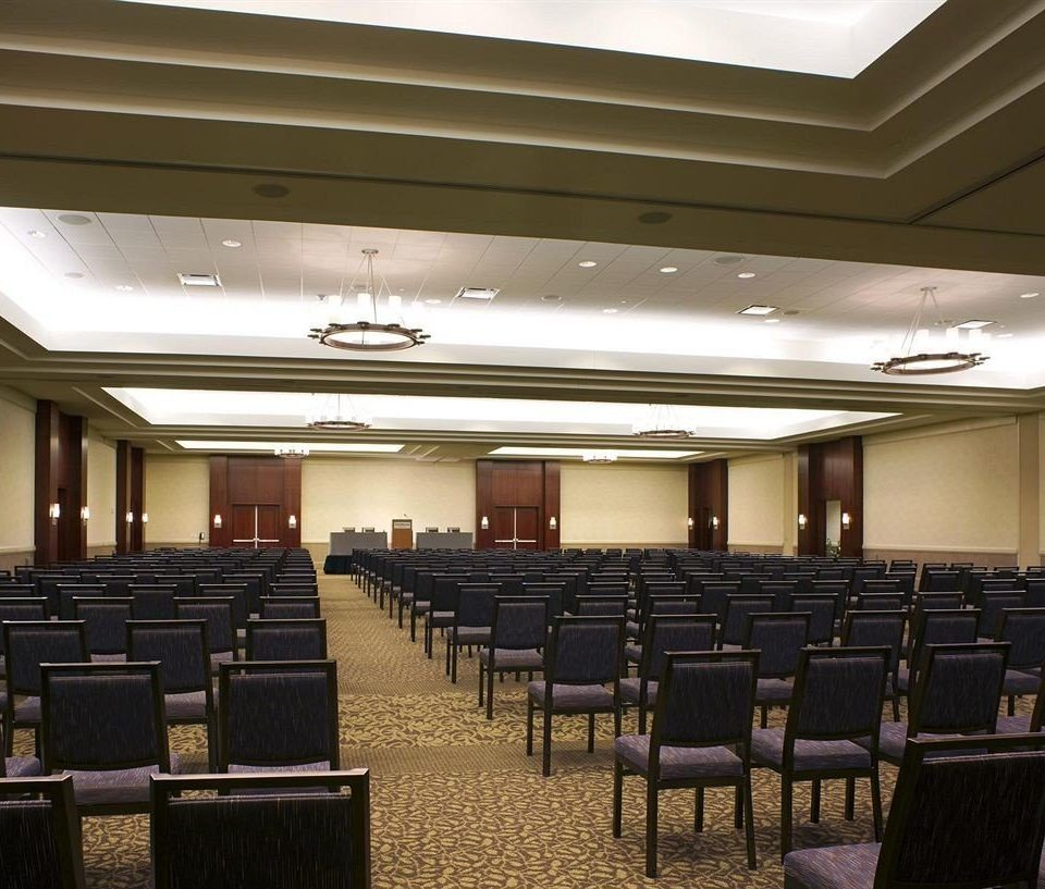 auditorium chair conference hall function hall convention center meeting convention ballroom lined