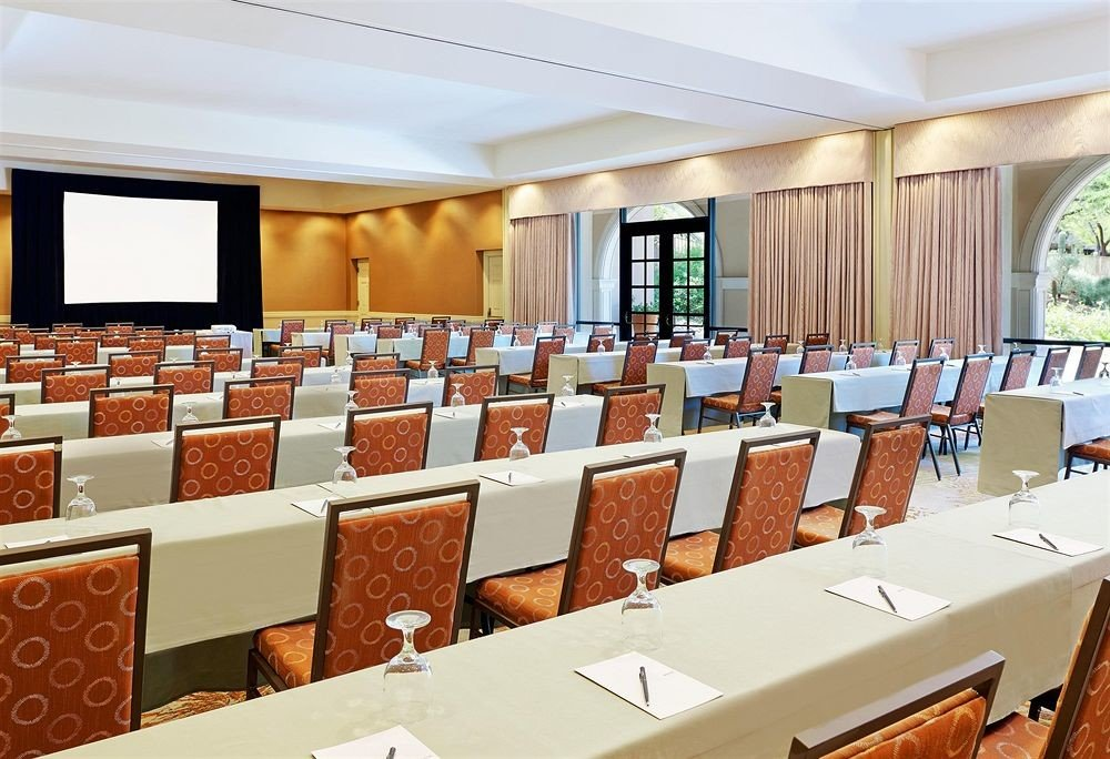 conference hall function hall auditorium meeting convention center classroom restaurant ballroom conference room