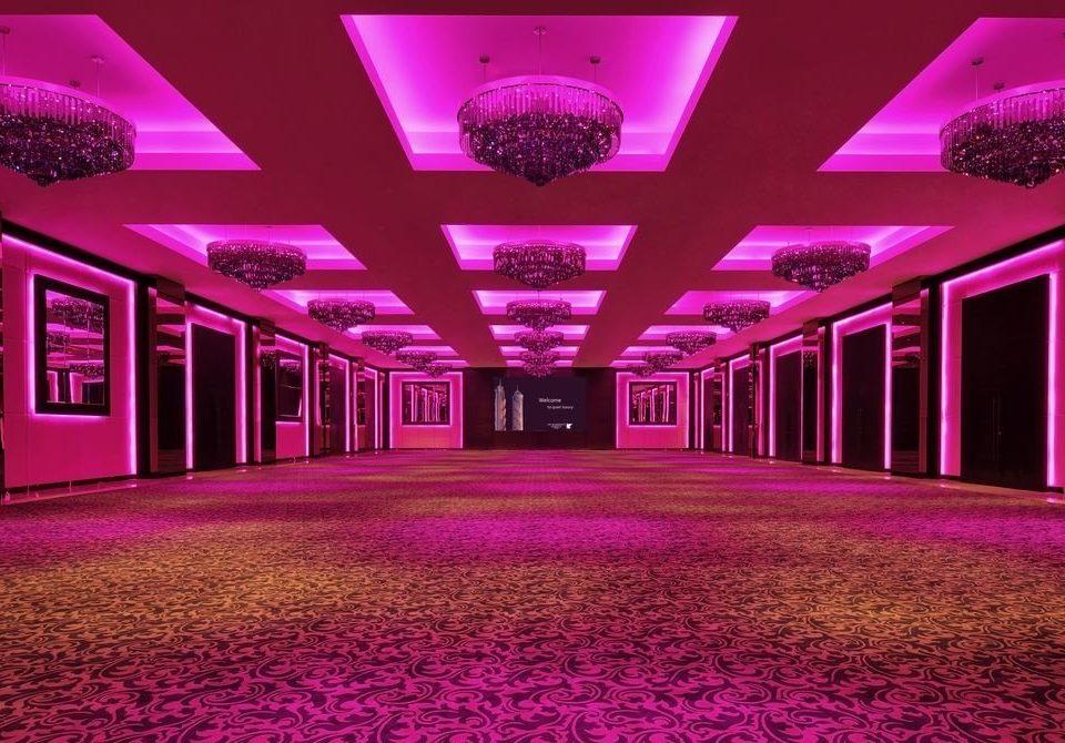 purple function hall auditorium stage ballroom nightclub convention center theatre colored colorful
