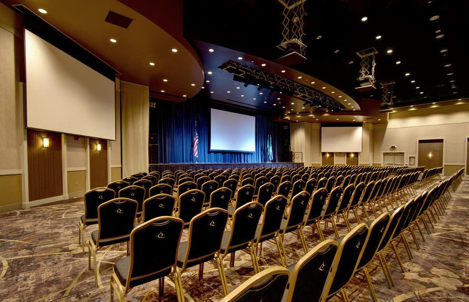 auditorium function hall stage theatre convention center conference hall ballroom long