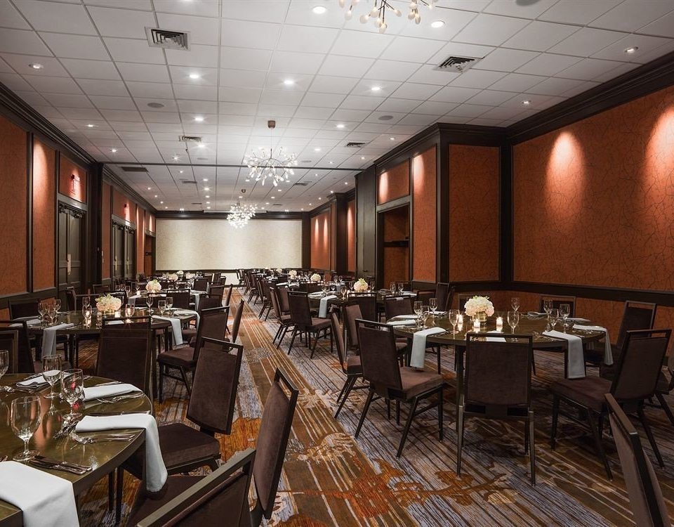 conference hall function hall auditorium restaurant convention center long ballroom steel