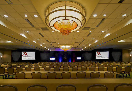 auditorium function hall conference hall convention center convention ballroom theatre lined
