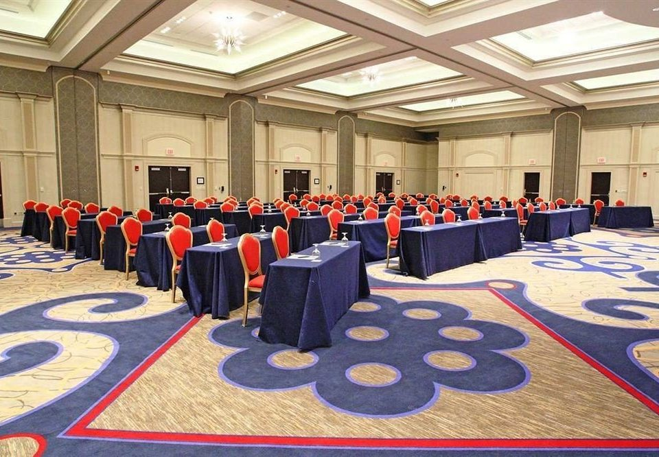 auditorium conference hall function hall ballroom lined