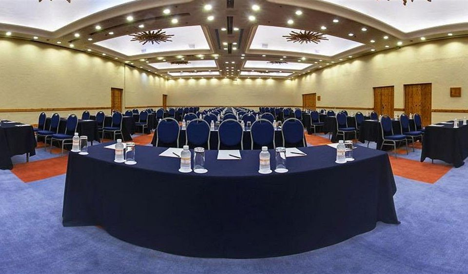 auditorium conference hall scene meeting function hall convention center convention blue conference room