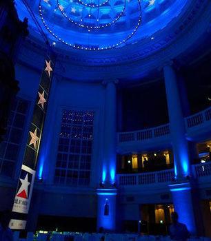 blue night stage auditorium nightclub music venue theatre