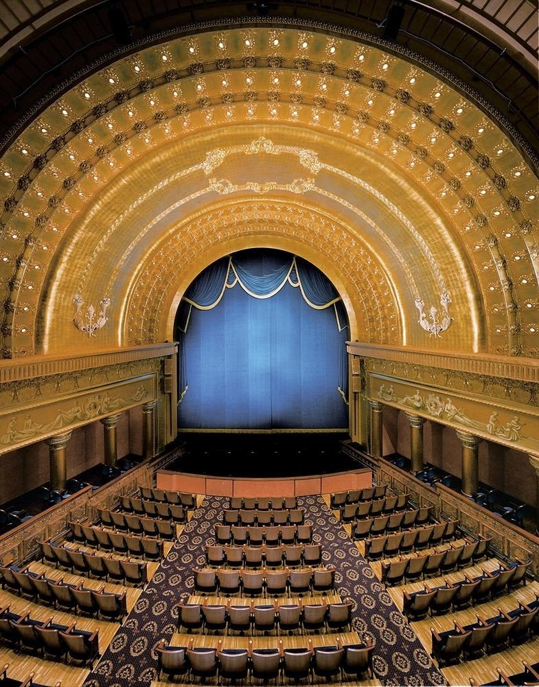 auditorium building performing arts center opera house stage theatre symmetry hall stone