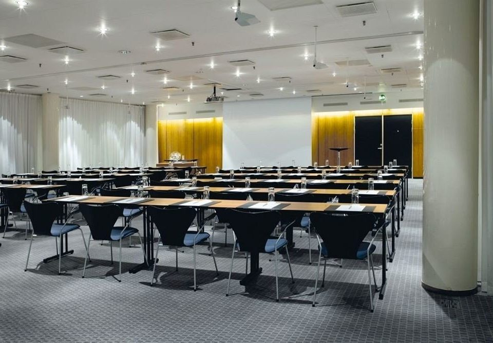 auditorium chair conference hall classroom function hall cafeteria convention center restaurant meeting