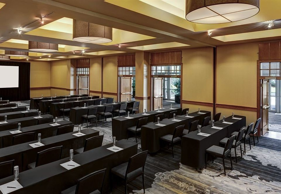 classroom auditorium conference hall cafeteria convention center function hall restaurant library condominium line