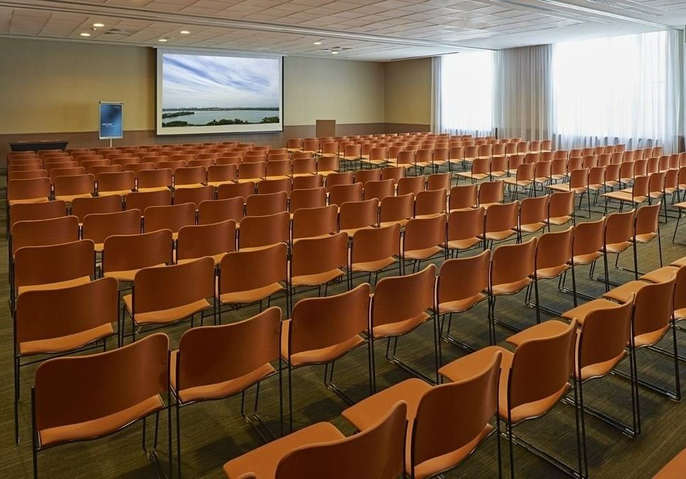 chair auditorium conference hall function hall convention center meeting classroom theatre convention set