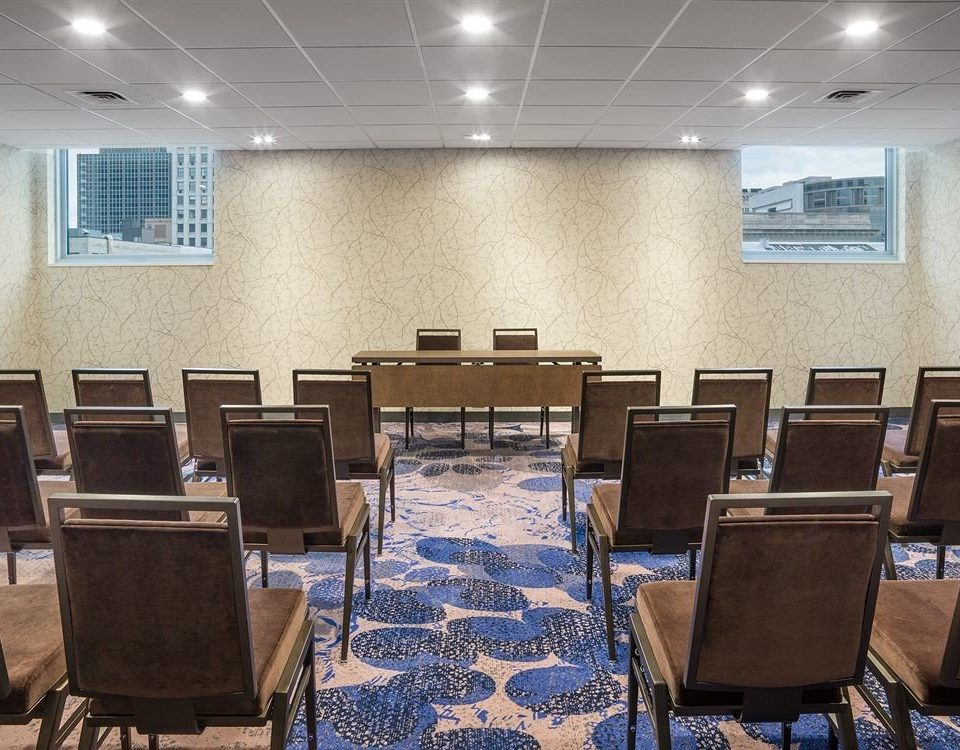 chair conference hall auditorium classroom function hall meeting convention center empty
