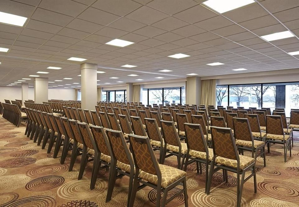 chair row lined auditorium convention center line conference hall set conference room