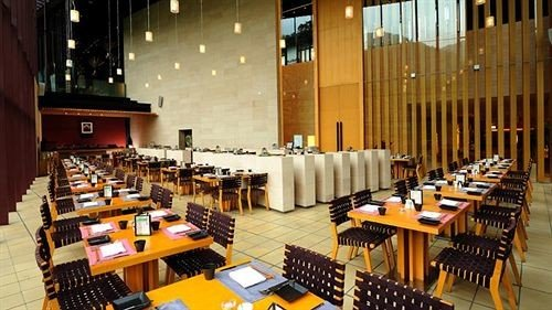 chair auditorium function hall conference hall convention center restaurant electric organ