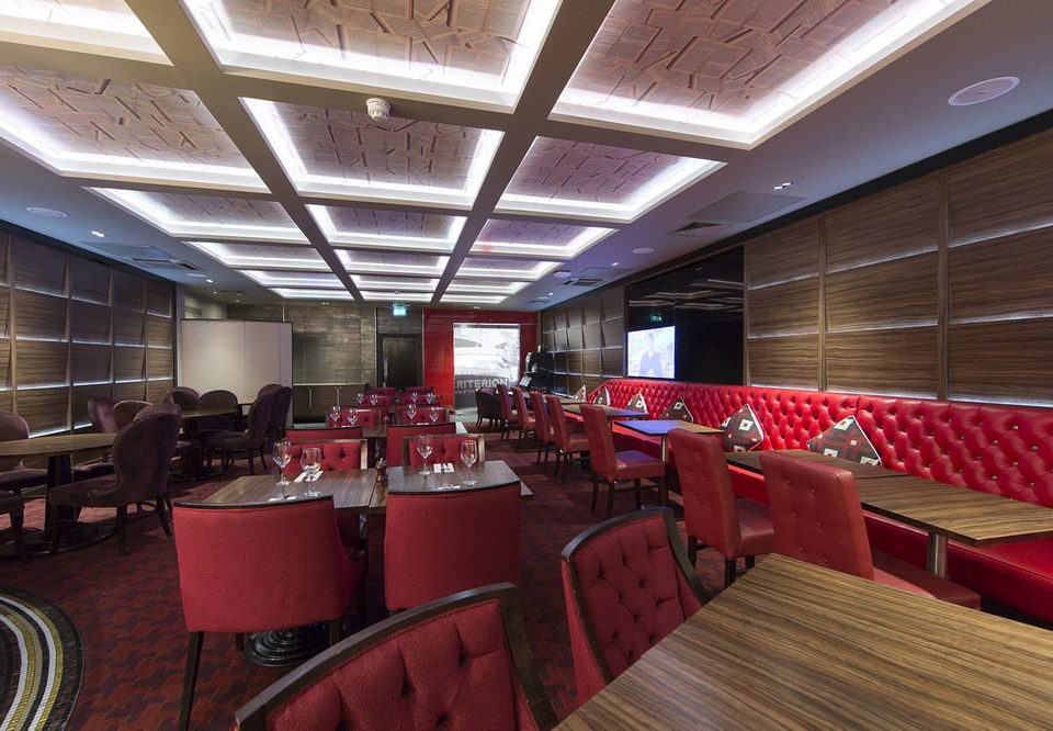 chair red function hall auditorium conference hall restaurant convention center